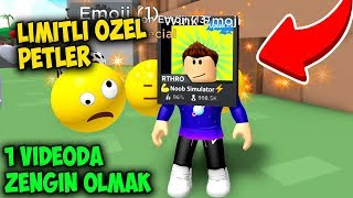 I'VE MADE THE MOST VALUABLE LIMITED PETS AND GOT RICH   Emoji Simulator   Roblox English