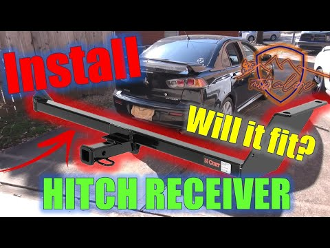 How to install a hitch receiver on your car (part 1) // Mitsubishi Lancer // #mtb #mtblife #towlife
