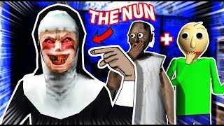 The Nun Is Like GRANNY AND BALDI COMBINED!!! | The Nun Mobile Horror Game (Gameplay)