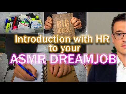 ASMR Roleplay 💼 Introduction with HR Rep to your Dreamjob