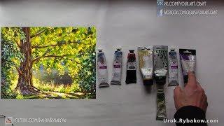 Какие масленые и акриловые краски купить для рисования осени, зимы, весны и лета. Валерий Рыбаков