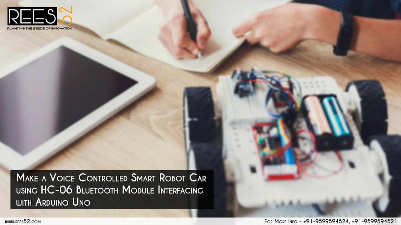 Make a Voice Controlled Robot Car Using HC-06 Bluetooth