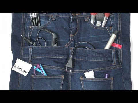 How To Make An Organizer From Old Jeans - DIY Home Tutorial - Guidecentral