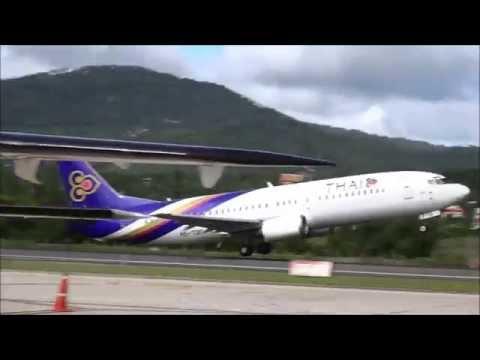 Takeoff  Samui International Airport Boeing 737 - Thailand
