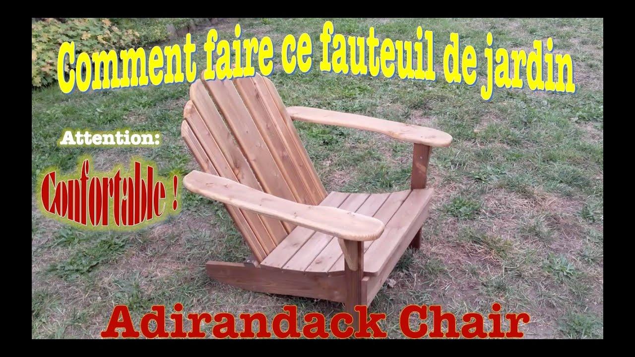 Comment faire un fauteuil de jardin tr s confortable youtube for Comment fabriquer un fauteuil