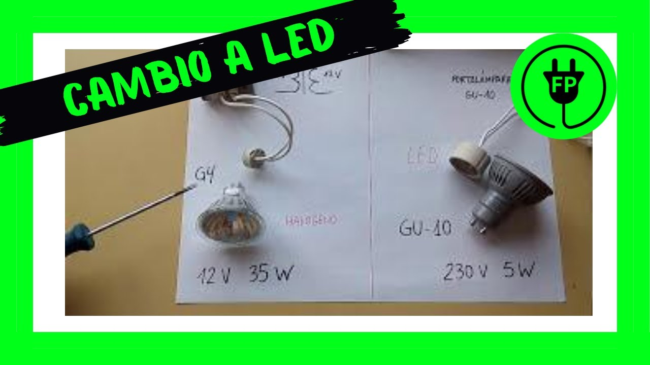 Cambiar foco hal geno por foco led youtube - Led para halogenos ...