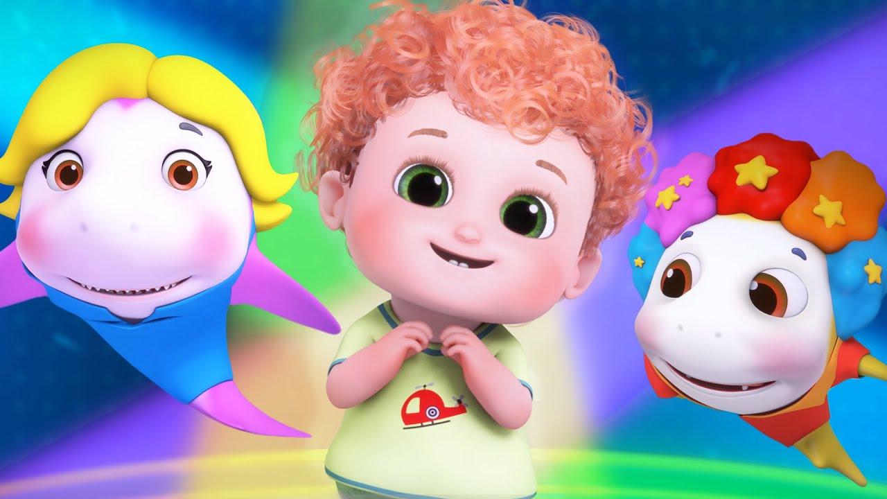 Baby Shark Dance | Sing and Dance! | Animal Songs | cartoon for kids | Blue Fish  - 4K Videos
