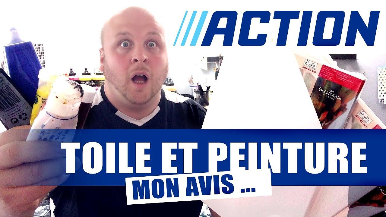 Tableau Et Peinture Pour Debutant De Chez Action Mon Avis Youtube
