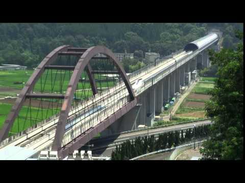 A 590 km/h avanza el tren japonés más rápido del mundo