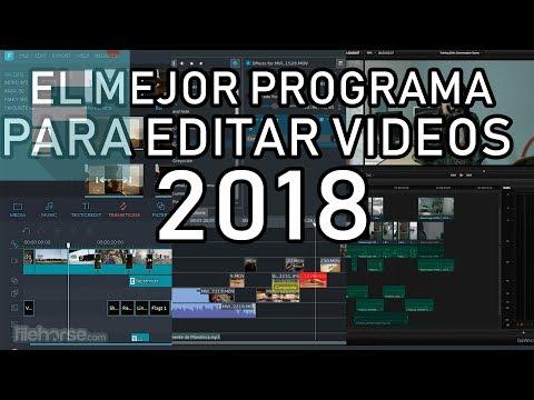 el mejor programa para editar videos 2018