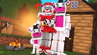 ENCONTREI UMA FAMÍLIA DE ANIMATRONICS FUNTIMES NO MINECRAFT (FIVE NIGHTS AT FREDDY)