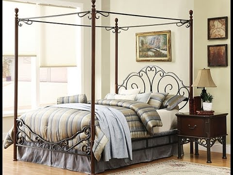 Full Size Canopy Bed Design Ideas
