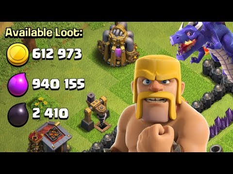 DRAGONS EVERYWHERE!  TH9 Dark Elixir Time | Clash of Clans