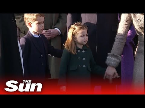 Princess Charlotte steals the show as royals leave Sandringham church