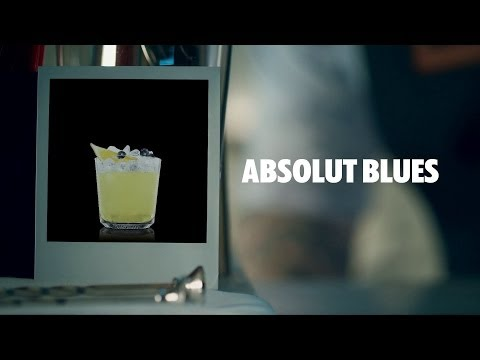 ABSOLUT BLUES DRINK RECIPE - HOW TO MIX