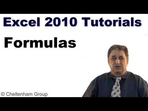 Excel 2010 Tutorial | Formulas & Excel
