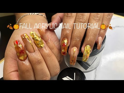 Fall Acrylic Nail Tutorial thumbnail