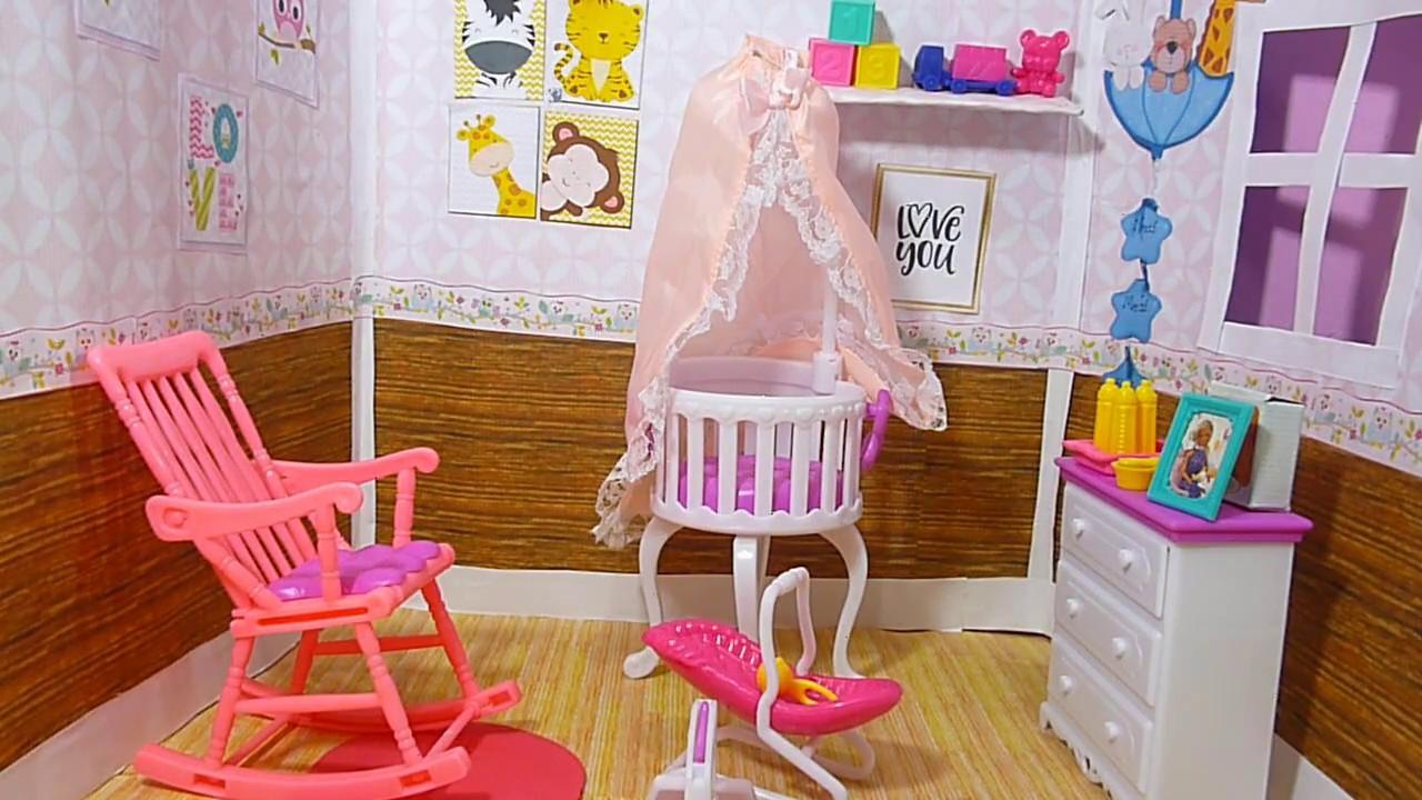 Como hacer la habitacion del bebe de barbie manualidades - Como hacer fotos a bebes en casa ...