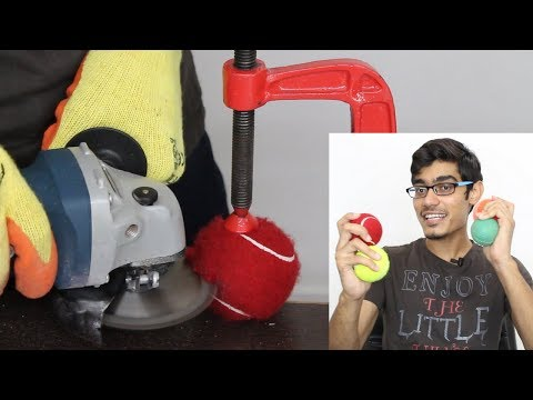 What Is Inside ALL Cricket Balls | Cutting Open TENNIS, FLASH, STUMPER, Softball | Blade XYZ | Hindi