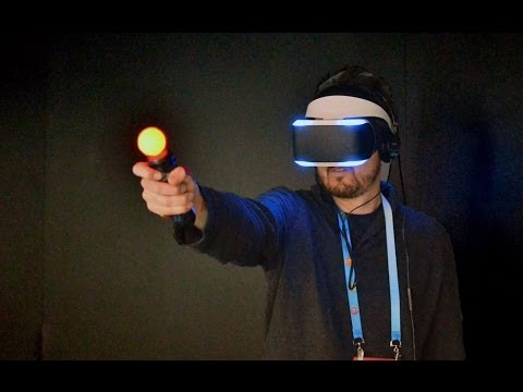Gdc 2014 Sony Project Morpheus Ps4 Vr Headset Gameplay