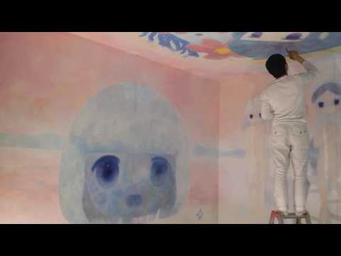 ob Live Painting and Video Installations at Kaikai Kiki Gallery in Tokyo