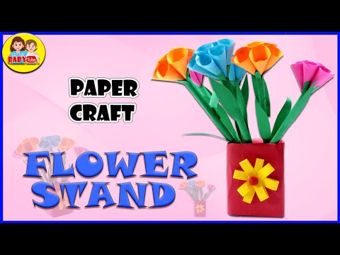 Paper Flower Stand Making - DIY Paper Craft - Making Pen Stand