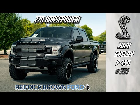 The Supercar of the truck world! 2020 Shelby F-150 with 770hp in BLACK!