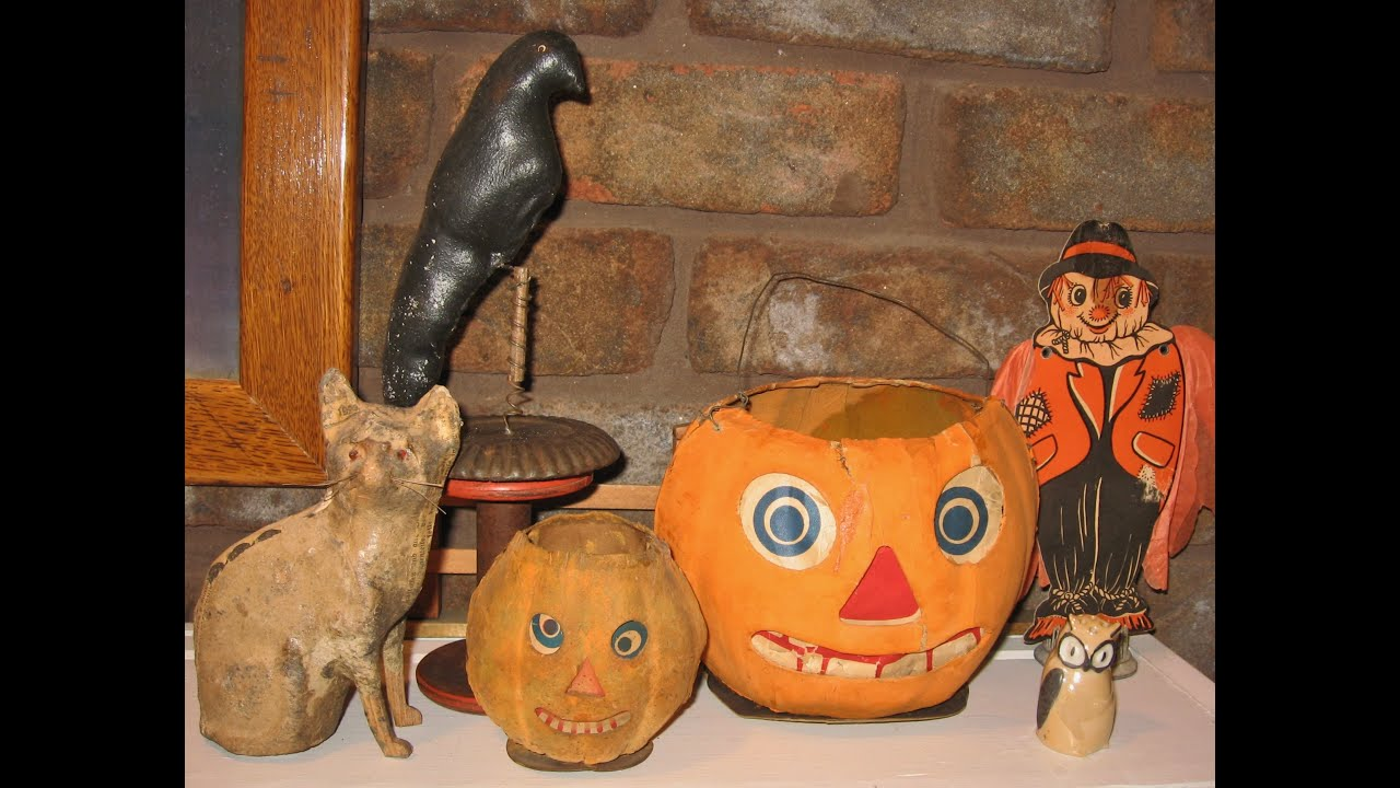 antique halloween decorations home decor youtube - Antique Halloween Decorations