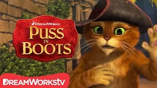 Cat Gets The Hiccups | NEW PUSS IN BOOTS