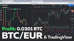 Cryptobo: Profit - 0.0301 Bitcoin. Trade BTC/EUR & TradingView chart