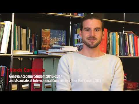 'To me the Geneva Academy is' by Alexis Comninos, alumnus of our...