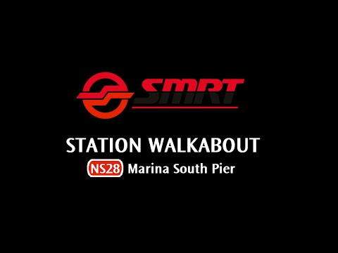 SMRT - NS28 Marina South Pier - Station Walkabout