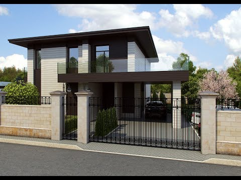 Проект дома с панорамными окнами