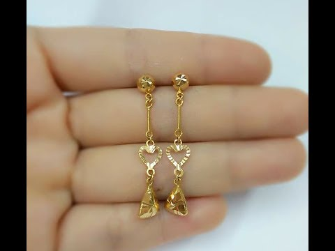 Light Weight Gold Earrings Designs Daily Wear