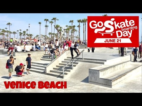 Go Skateboarding Day 2016 Downtown LA / Venice Beach Vlog #21
