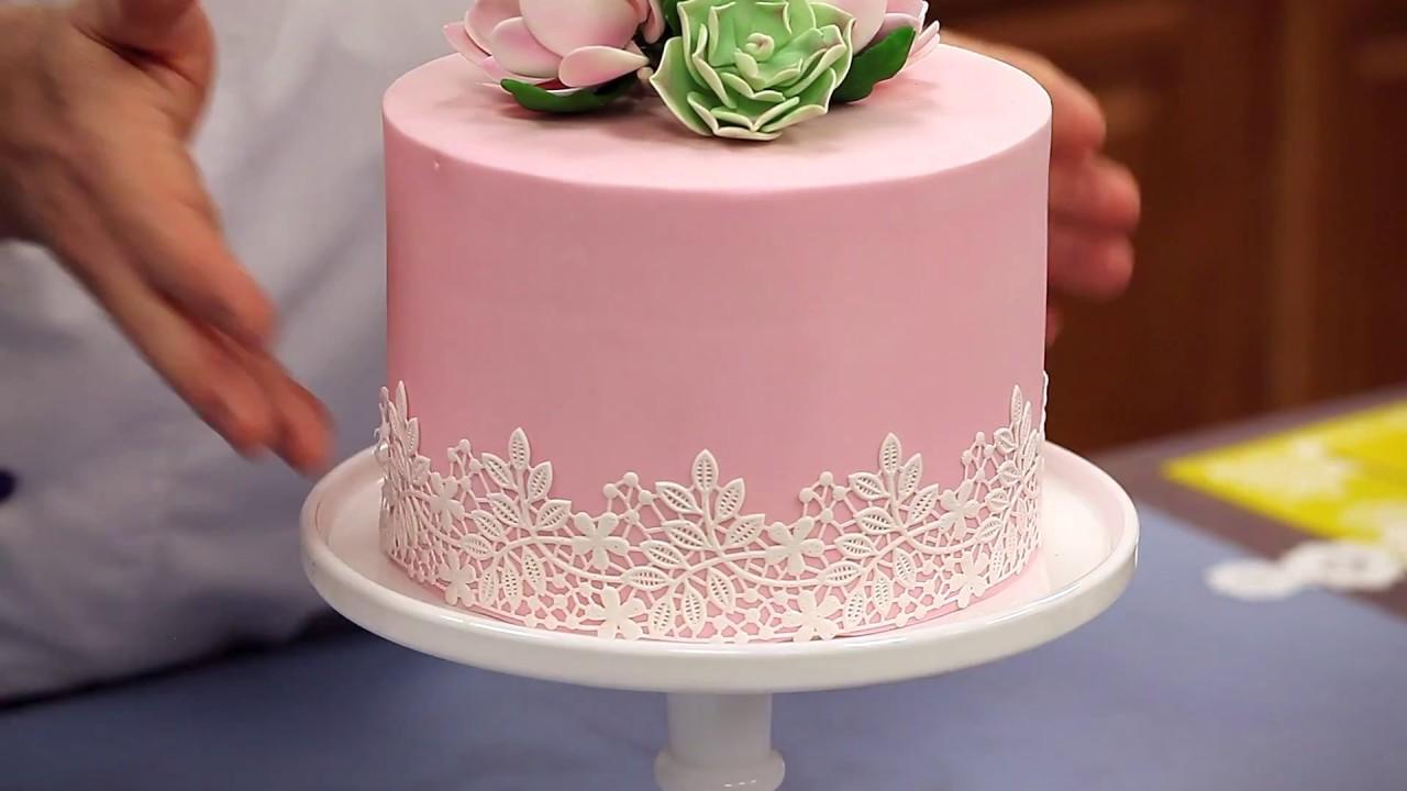 How To Make Cake Lace Sneak Peak Global Sugar Art Youtube