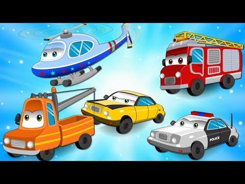 Learn Emergency Vehicles Names - Police Car - Nursery Rhymes - Videos For Kids Cars Cartoon