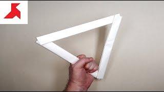 dIY - Как сделать треугольную ЛЕТАЮЩУЮ ТАРЕЛКУ из бумаги А4 своими руками
