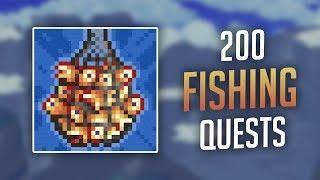 Fastest Way to Comṗlete 200 Fishing Quests (Supreme Helper Minion Achievement) - Terraria 1.3