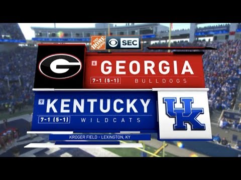 2018 #6 Georgia @ #9 Kentucky Full Game