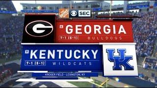 2018 #6 Georgia @ #9 Kentucky Full Game