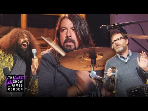 Dave Grohl, Rainn Wilson and Reggie Watts Jam Session