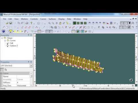 MAXSURF Modeler  - Skinning Curves around a Bilge
