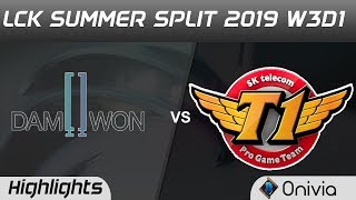 DWG vs SKT Highlights Game 3 LCK Summer 2019 W3D1 DAMWON Gaming vs SK Telecom T1 LCK Highlights by O