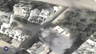 """""""צוק איתן"""": פגיעה במבנים מהם זוהה ירי על כוחותינו באזור חאן יונס"""