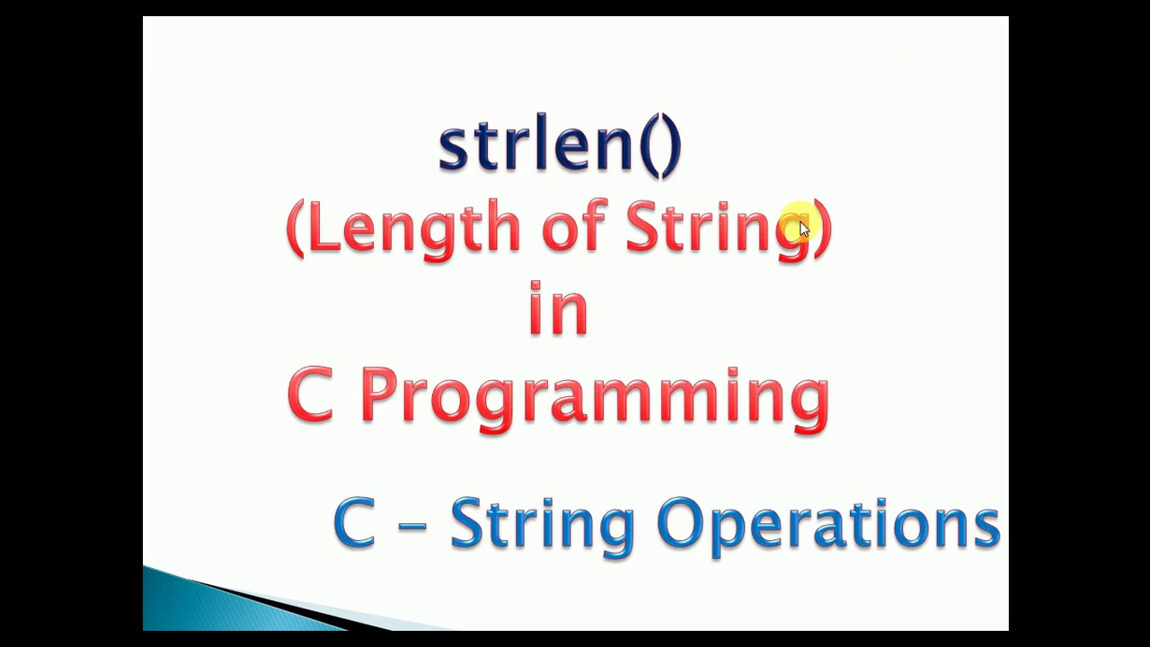 strlen() in c with example : Find Length of string program