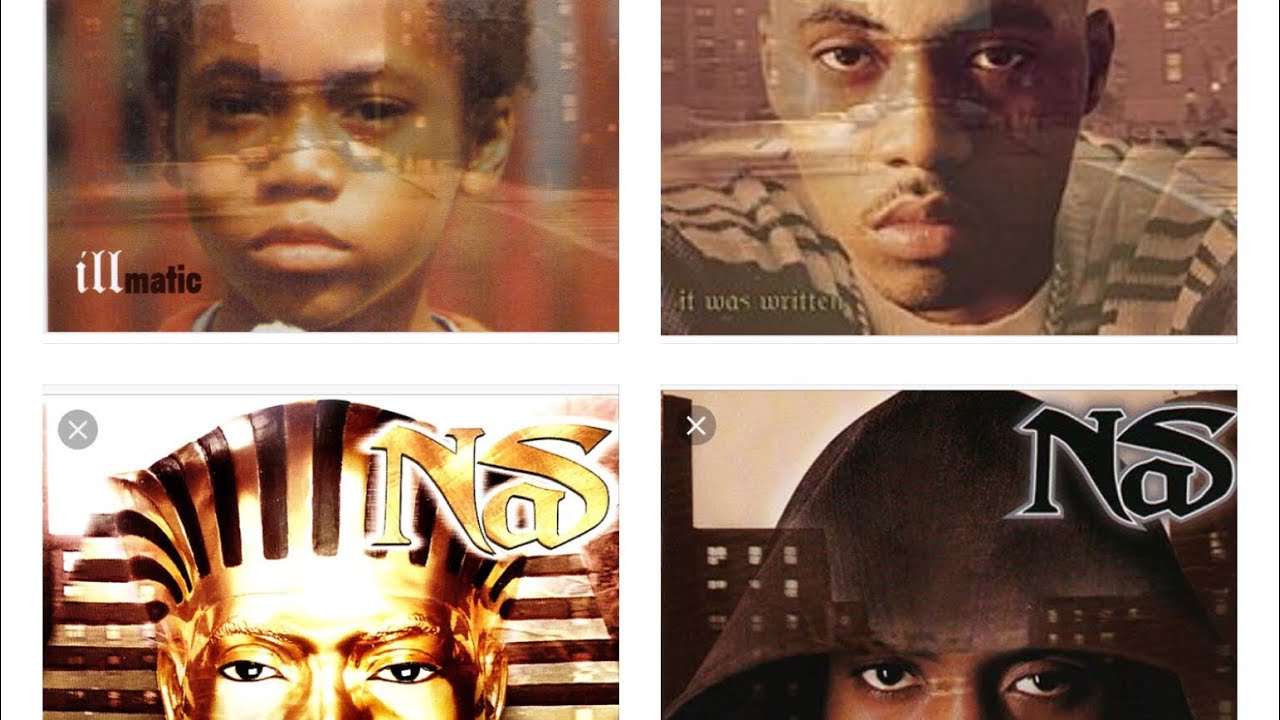 Nas First 4 Album Covers / Illmatic / It Was Written / I am / Nostradamus