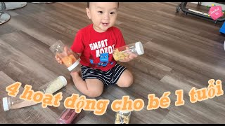 4 hoạt động dành cho bé 1 tuổi ở nhà!