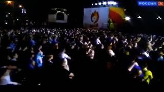 Смотреть видео Праздничный концерт в Москве ДЕНЬ ПОБЕДЫ у храма Спасителя телеканал КУЛЬТУРА онлайн