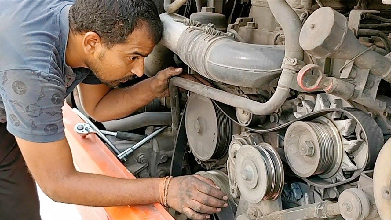 Scania Engine Repair Drive Belt Replacement